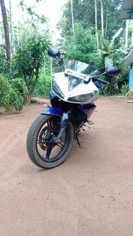 Yamaha R15 v2  blue and white