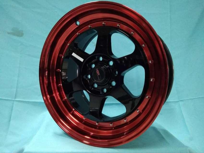 jual velg brio RUMOI JD8659 HSR Ring 15 pcd 8X100-114,3 warna BK/REDL 0