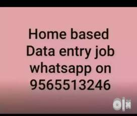 Working from home job data typing