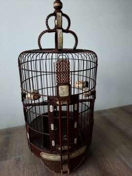 Sangkar burung hwabie chungkuok antik gading