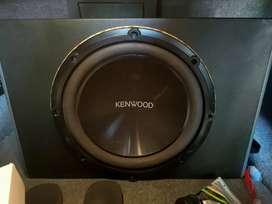 power monoblok momentum + subwoofer Kenwood + tv headrest sansui