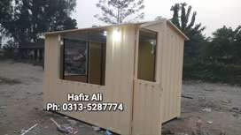 Portable Security guard cabin tuck shop Porta cabin office container