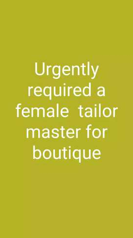 Need of a tailor master