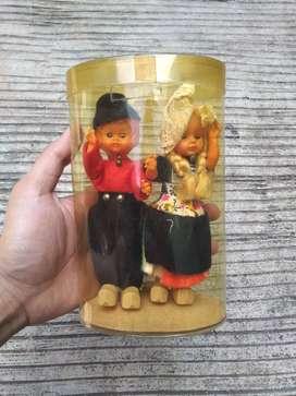 Vintage souvenir doll boneka mancanegara