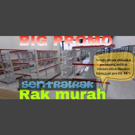 Rak baja minimarket gondola murah supermarket trolley