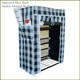 Single Shoe Rack 5 Layer Metal Shelves,  The best look anytime anywhe
