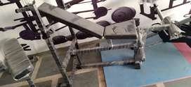 Incline , decline,flat with leg extension bench