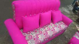 Best offer New 3+1+1 Wooden cushion sofa wholesale price