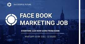Earn at home by face book marketing job /daily & weekly basis/ in PAK