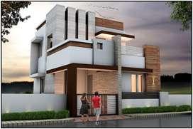 38lakhs 2 Bhk north facing budget villa sale in vadavalli