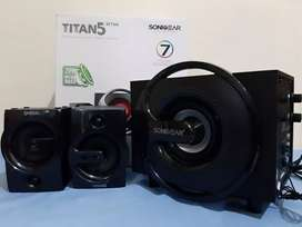 Speaker woofer bluetooth titan 7 bmti + fm + usb + sd card