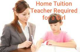 Tution at Home for a Girl