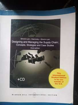 Designing and Managing the Supply Chain-concepts, strategy, Case Study