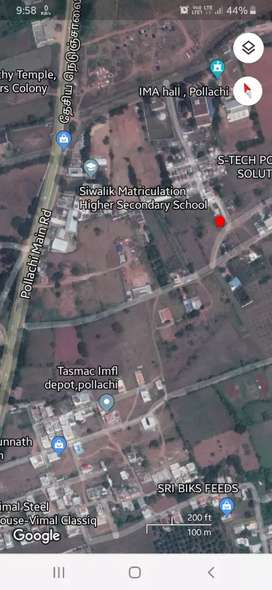 5 cent plot with an old house for sale in pollachi