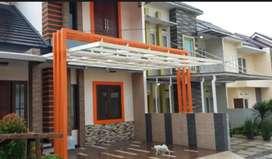 Canopy kaca, solarflat, alderon, zincalume, bajaringan, polycarbonate