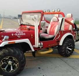 Modified landi red jeep