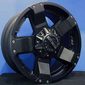 jual velg typeEMR 970 HSR Ring.20 Lebar.9 PCD.6X139,7 ET.18 FULL BLACK