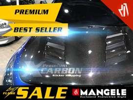 MANGELE stiker Carbon Kap Mesin Mobil Wrapping Premium Sticker Metalik