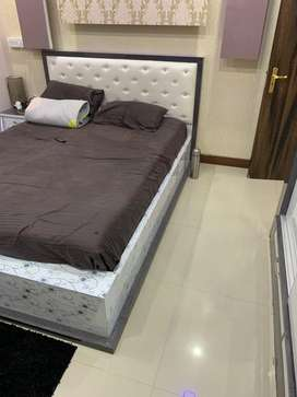 Queen size new bed with 8 inch matters and 2 pillow