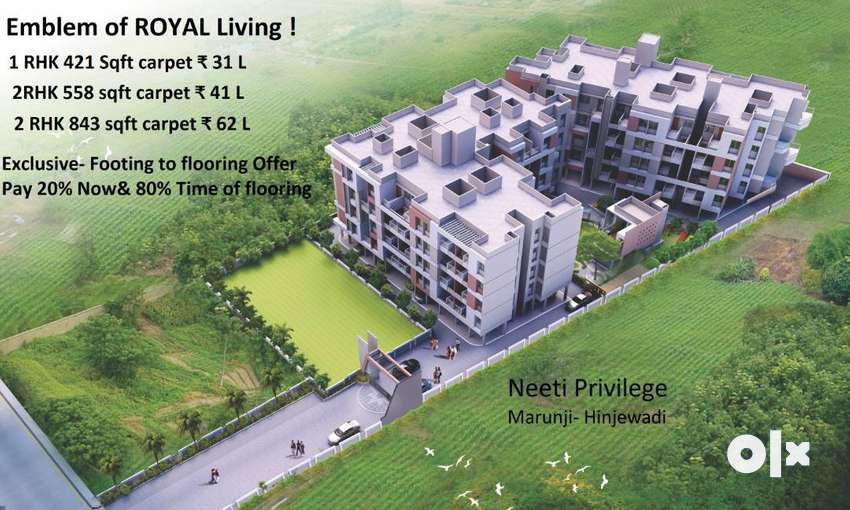 %Prime location,1BHK  Flat  for Sale  .% 0