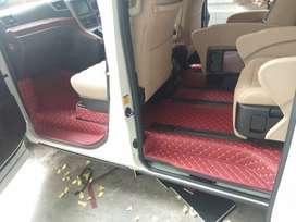 karpet mobil 7D toyota Vellfire tahun 2005-2020 full bagasi super elit