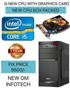 NEW i5 CPU/NVIDIA GRAPHICS CARD/4GB RAM/500GB HDD/1 YEAR WARRANTY