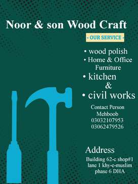 Noor & son Wood Craft Specialize:wood polish,Home & Office Furniture,