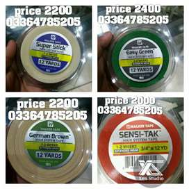 Hair system important tapes at low prices green tape yellow tape blue