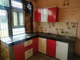 Garden facing area, 2 bedrooms open kitchen with hall and car parking