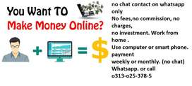 Need computer operator Work from home,pay weekly or monthly(no chat)(9