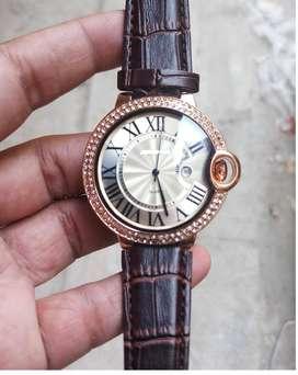Mens Brown Belt Watch