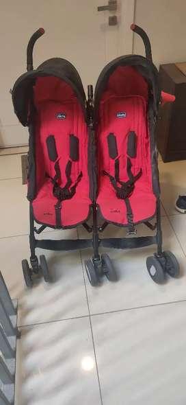 Dual twin chichoo pram