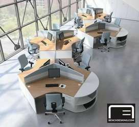 Desain ruang kantor meja kerja meja resepsionis