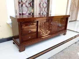Meja tv alami depan jati polosan ondha r67