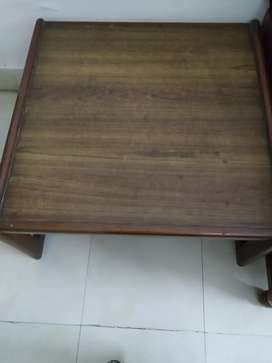 Square wooden centre table