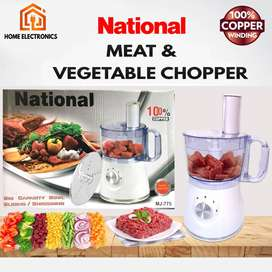 National Electric Meat Chopper With Vegetable Cutter / Food Processor