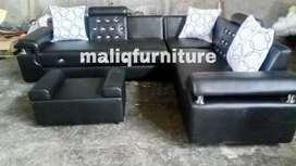 Sofa sudut black new minimalis