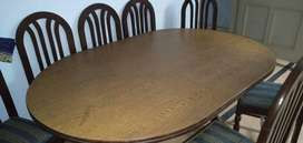 dining table set with eight chairs