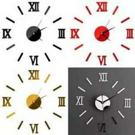 Jam dinding 3d ukuran sedang romawi iw1