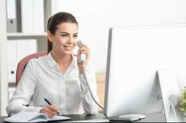 Receptionist front office Girl Required