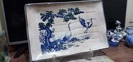 Nampan keramik tua antik ukuran jumbo