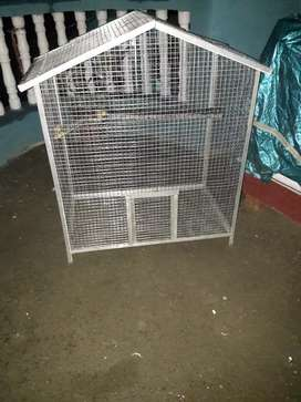 New cage with parrots