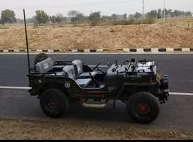 Modified stylish black coloured willy jeep