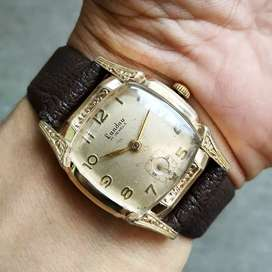 Jam Tangan Antik Landau Artdeco 17 Jewels Sub Second Gold plate