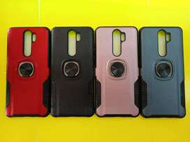 Case Xiaomi Redmi note 8 pro carbon soft case Stand iRing 360