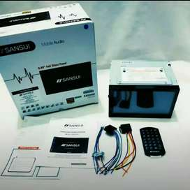 Headunit SANSUI Komplit USB, Bluetooth, TV tuner, Mirrorlink Include