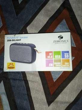 Zebronics original bluetooth speaker 5days old