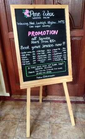 Papan Tulis Blackboard papan menu