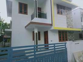 New build 3 bhk 1300 sqft house at paravur town near peruvaram