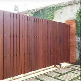 Menerima pemasangan pagar grc,kayu,besi holow,rambaja dll